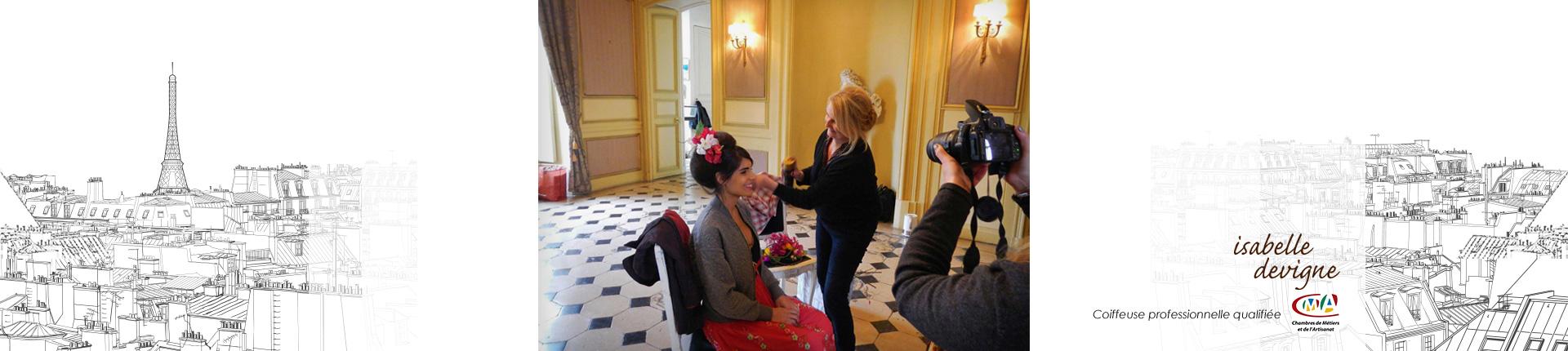 Isabelle Devigne, coiffeuse à domicile Paris